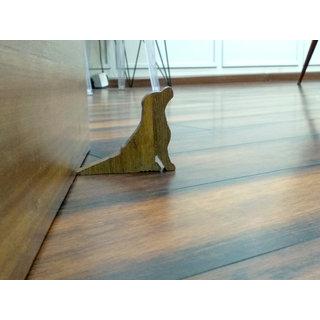 VAH Dog Design Small Non-Slip wooden Door Stoppers - To Stop Or Jam the Doors