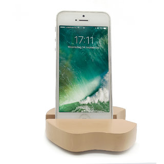 VAH  Apple Design Mobile Phone Stand / Holder For Smartphone (Brown)