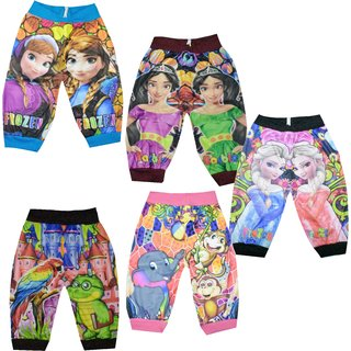 Meia for girls Frozen Printed Capri Multicolor (Set of 5)