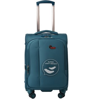 F Gear Aspire Polyester 73 cms Ocean Blue Softsided Check-in Luggage (2757)