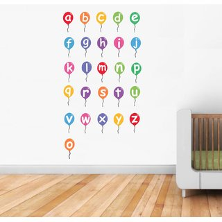 Asmi Collections Alphabets Wall Stickers for Kids Room