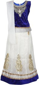 Arshia Fashions Party wear Girls Lehenga Choli Velvet Net Stitched