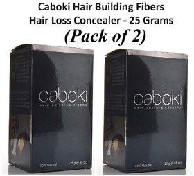 Caboki Hair Building Fibers Hair Concealer - Natural Black - 25 gm  Pack of 2