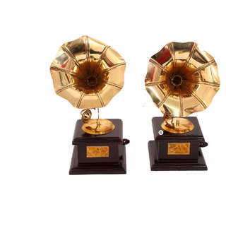 Vintage Dummy Gramophone Showpiece - Set of 2