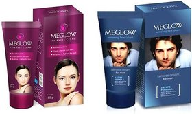 Meglow Fairness Cream For Men And Women , (50 g each),pack of 2