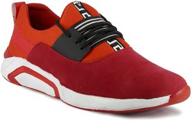 Blue Pop Red Sports Shoes for Men