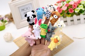 Kuhu Creations Supreme 4 Pcs (Random) Animal Puppets Baby Story Telling Finger Puppets.