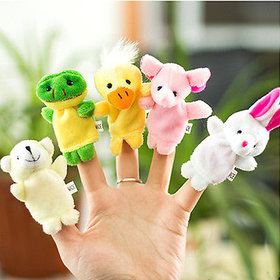 Neo Rising Supreme 5 Pcs (Random) Animal Puppets Baby Story Telling Finger Puppets.