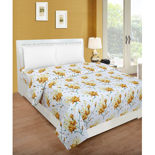 Trendz Home Furnishing 3D Printed Poly Cotton 1 Double Bedsheet Without Pillow Covers