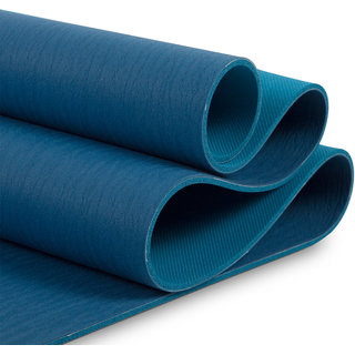 MeFree MeFriendly Yoga Mat Double Layered 5 mm (Dark Blue+Teal Blue)