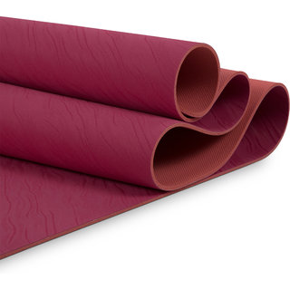 MeFree MeFriendly Yoga Mat Double Layered 5 mm (Dark Pink+Coral Pink)