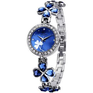 ADAMO Designer Blue Dial Women's & Girl's Watch 835SSM05