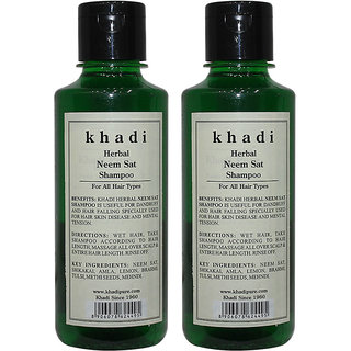 Khadi Herbal Neem Sat Shampoo - 210ml (Set of 2)