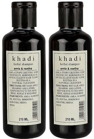 Khadi Amla  Reetha Shampoo 210 Ml Pack Of 2