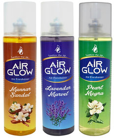 Combo pack of 3 Air Fresheners For Car And Room