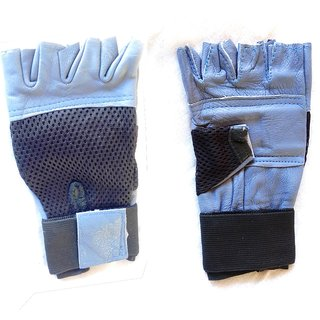 Onex Gym Gloves Leather and Fabric Mix - Free size