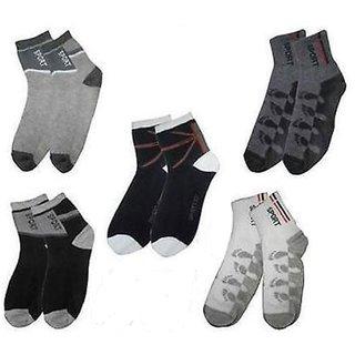 Kotton Labs Premium Men Ankle Length Socks (Pack Of 5)