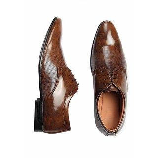 Bucik Men's Tan Lace-up Derby Formal Shoes