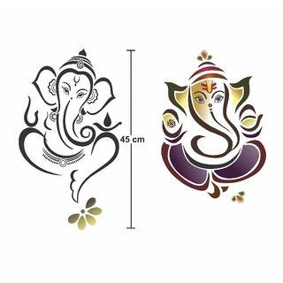 Asmi Collections Wall Stickers God Ganesha - 2 Sets
