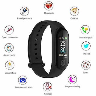 M3 Waterproof Health Bracelet  Compatible With All Smartphone