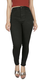 Malachi High Waist Black Jeans For Women