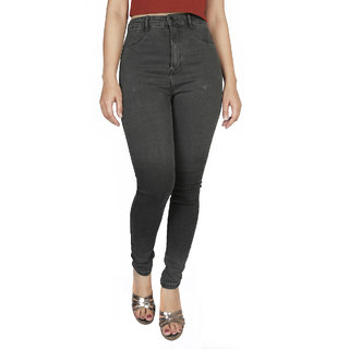Malachi High Waist Dark Grey Jeans