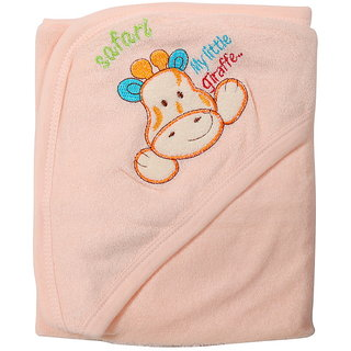Dazzle Export Quality Cotton Hooded Baby Unisex Bath Towel/Bath Gown for New Born to 1 Year Multicolor