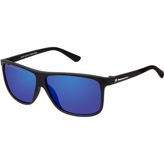 David Blake Blue Polarized UV Protected Mirrored Wayfarer Sunglass