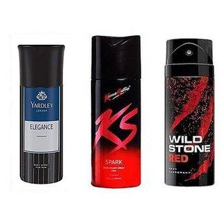 Yardly And KS kamasutra And Wild Stone Deo Deodorants Body Spray FOr Men - 150 ml