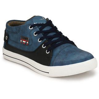 Krasiva Men's Blue Synthetic Casual Sneakers Shoes