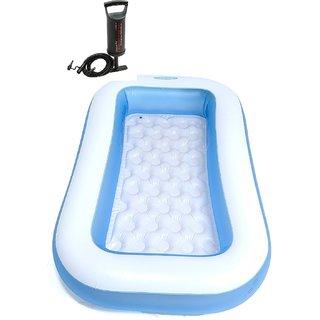 Intex Inflatable Rectangular tub pool with Air Pump(5X2 feet)