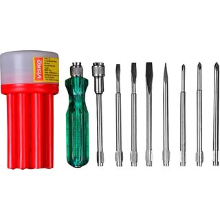 Visko 111-Red Combination Screwdriver Kit (Pack of 9)