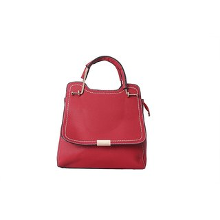 INGENS Red Faux Leather Sling Bag