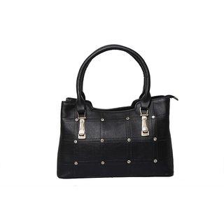INGENS Black Faux Leather Sling Bag