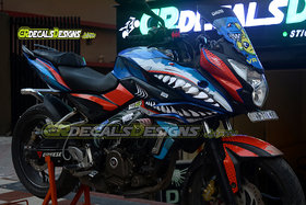 CR Decals Pulsar AS 200 Custom Decals/ Stickers/ Wrap Full Body VR46 AGGRESSIVE SHARK Edition Kit