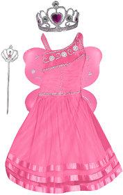Girl Pari Angel Fairy Frock Pink