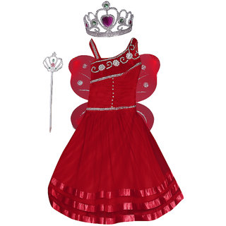 Girl Pari Angel Fairy Frock Red