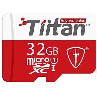 Tiitan 32 GB Class 10 MicroSD Card/ Speed up-to 100 MB/s