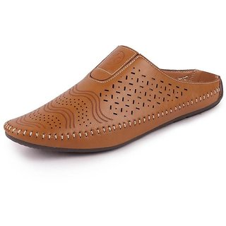 Fausto Men's Tan Ethnic Juttis & Mojaris