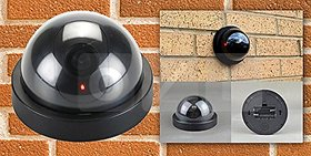 Shopper52 Dummy Fake Security CCTV Dome Camera With Flashing Red Led Light