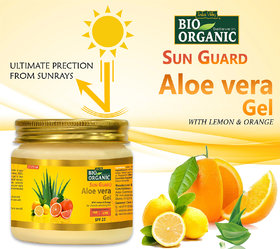 Indus Valley Bio Organic Sun Protection Aloe Vera Gel With Lemon And Orange For Ultimate Refreshing Feel