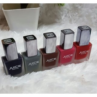 Juice Matte Nail Paints Set of 5