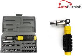 Autofurnish 41 PCS Hand Tool Kit Foldable Screw Driver Set