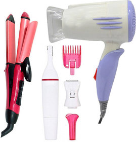 Bentag combo of Dryer AT-1400 Straightener PN-2009 and sweet trimmer