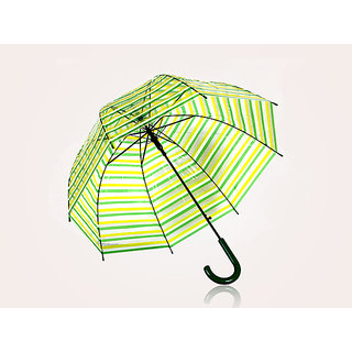 Green With Yellow Transparent Umbrella