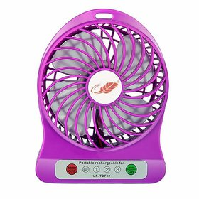 HFK Mini Portable USB Rechargeable Fan Assorted colors