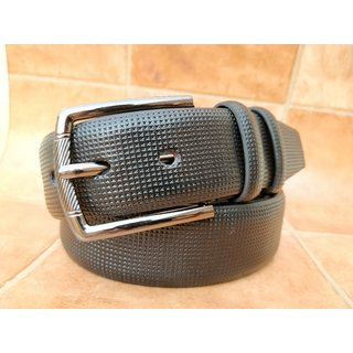 Stylish Leatherite Black Belt For Men (Synthetic leather/Rexine)