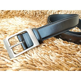 Stylish Formal Leatherite Black Belt For Men (Synthetic leather/Rexine)