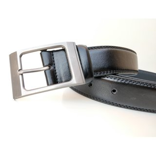 Stylish Formal Leatherite Black Belt For Men-02 (Synthetic leather/Rexine)