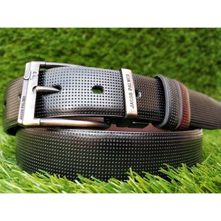 Stylish Leatherite Reversible Black Belt For Men (Synthetic leather/Rexine)
